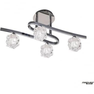 Ice 4 Light Ceiling Fitting Polished Chrome