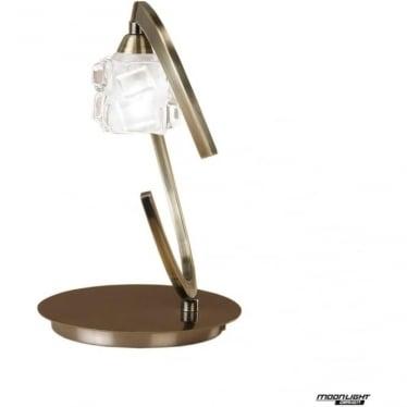 Ice Single Light Table Lamp Antique Brass
