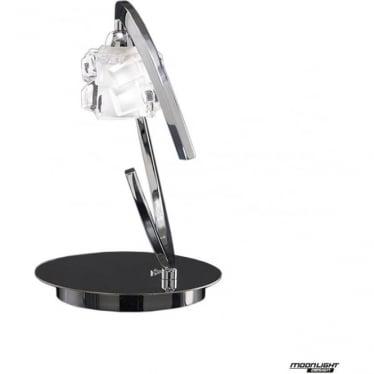 Ice Single Light Table Lamp Polished Chrome
