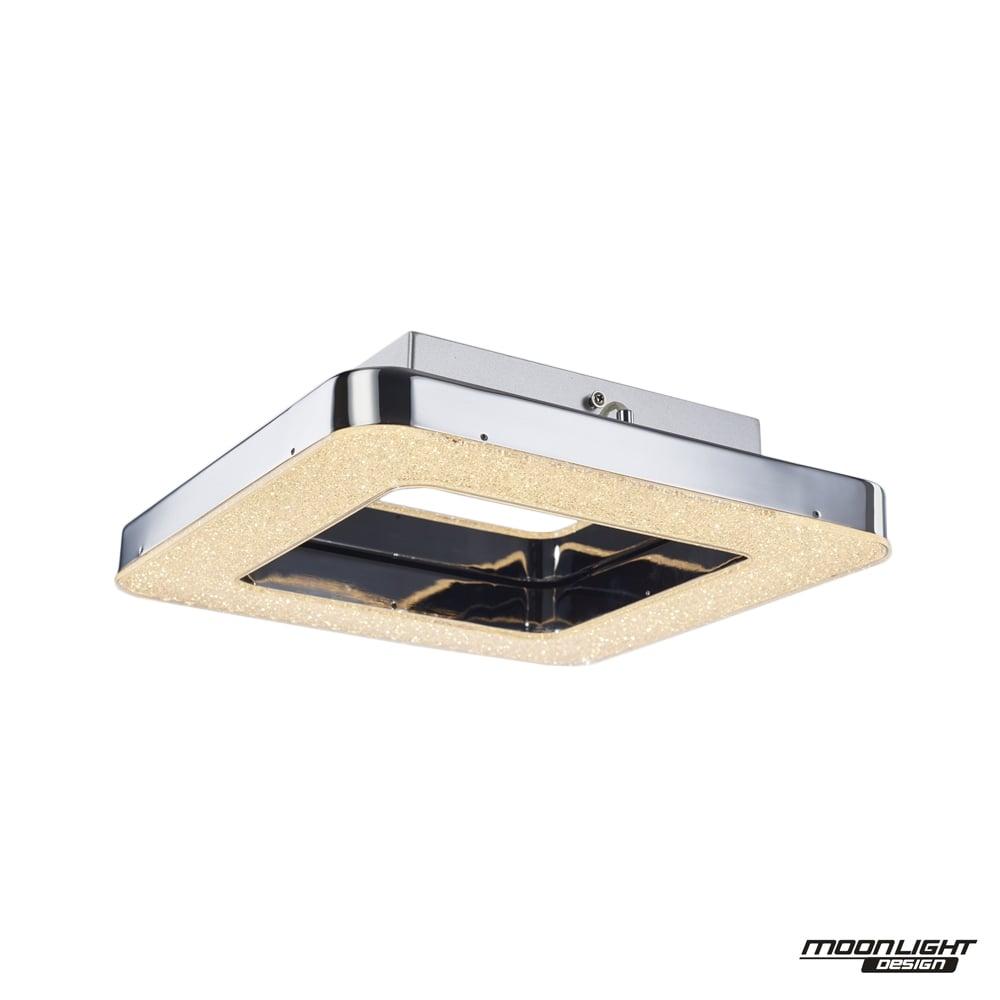 Cerchio flush fitting square chrome ip44