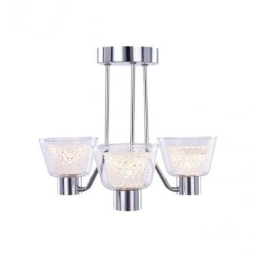 Diamond 3 Light Semi-flush IP44 Chrome