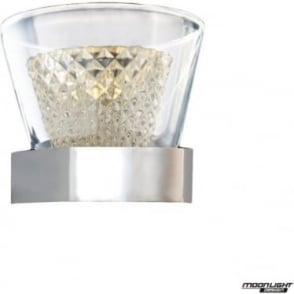 Diamond Single Wall Light IP44 Chrome