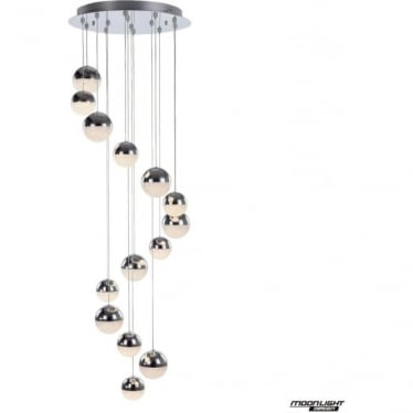 Eclipse 14 Light Pendant 3M Chrome Dimmable