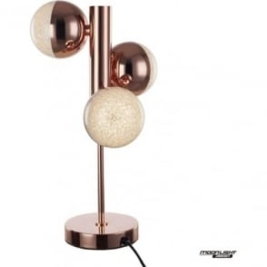 Eclipse 3 Light Table Lamp Copper