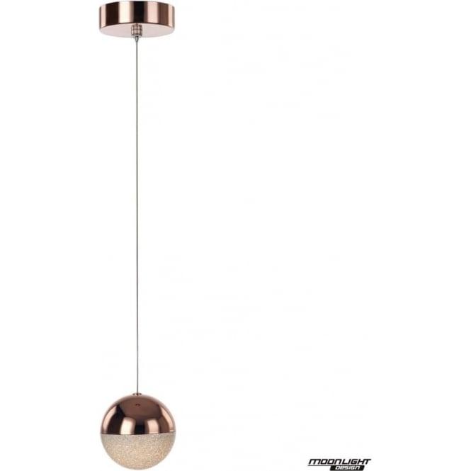 Illuminati Eclipse Single Pendant Copper