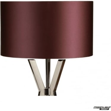 "Floor Lamp Shade Damson 18""/450mm"