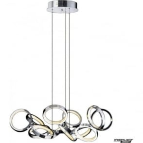 Meridian 13 Light Pendant Chrome