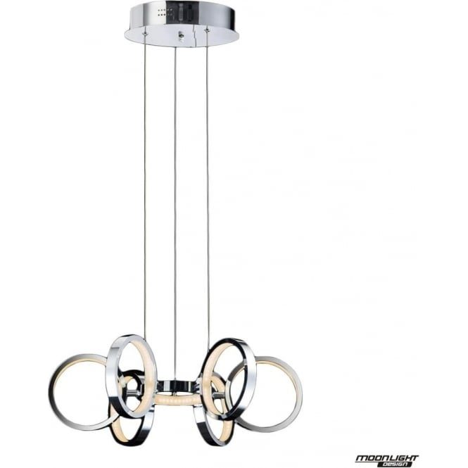Illuminati Meridian 7 Light Pendant Chrome