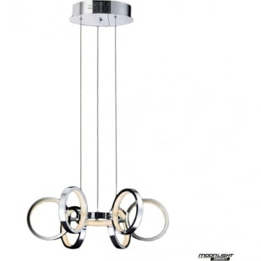Meridian 7 Light Pendant Chrome