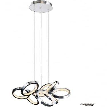 Meridian 9 Light Pendant Chrome