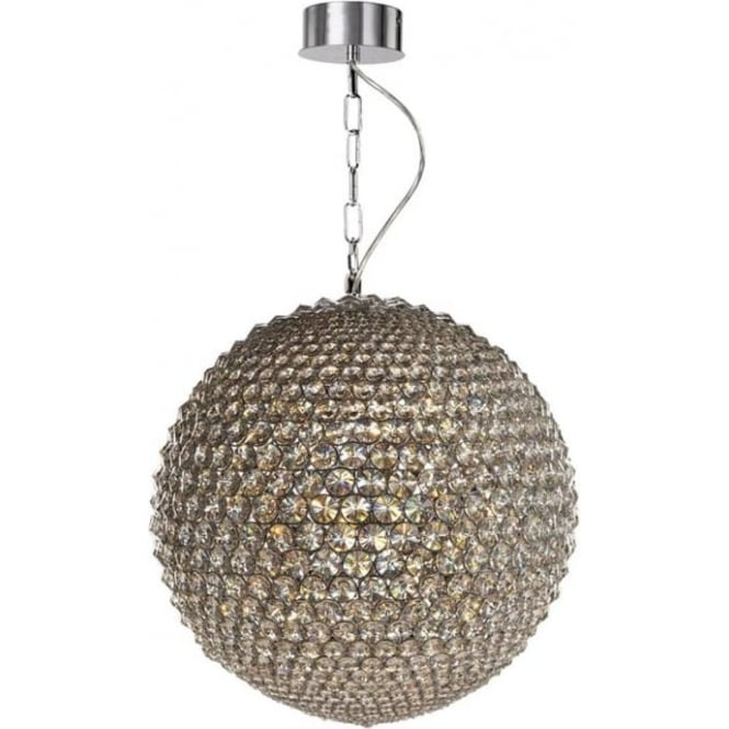 Illuminati Milano Small Pendant Chrome with Clear Crystal Dimmable
