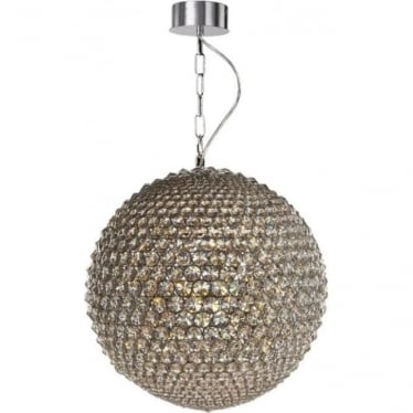 Milano Small Pendant Chrome with Clear Crystal Dimmable