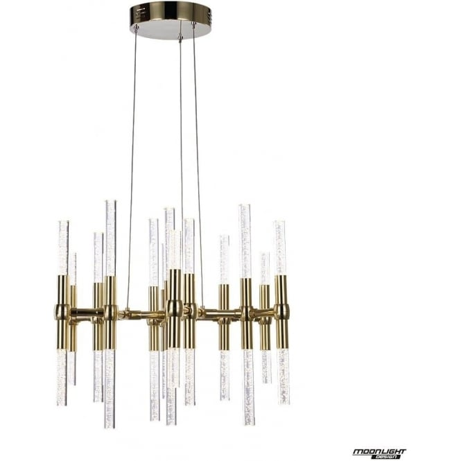 Illuminati Molecule LED 26 light round adjustable ceiling pendant - Gold