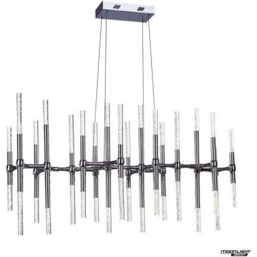 Molecule LED 36 light oval adjustable ceiling pendant - Chrome