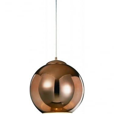Oberon Large Pendant Copper Dimmable