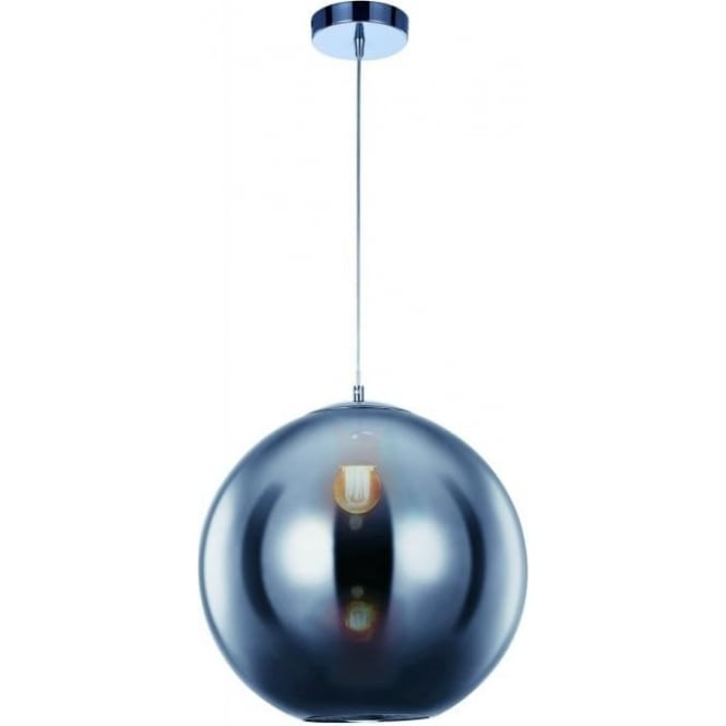 Illuminati Oberon Medium Pendant Chrome Dimmable