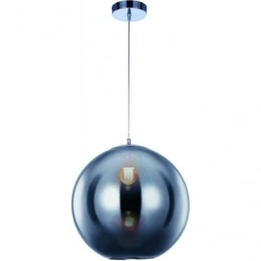 Oberon Medium Pendant Chrome Dimmable