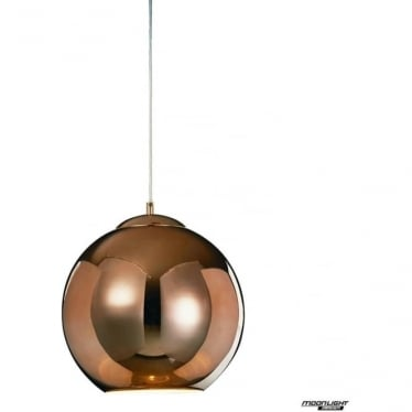 Oberon Medium Pendant Copper Dimmable