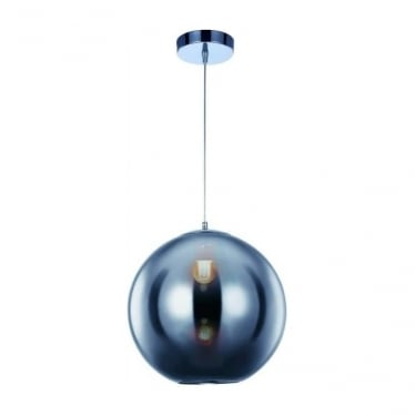 Oberon Small Pendant Chrome Dimmable
