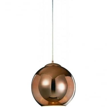 Oberon Small Pendant Copper Dimmable