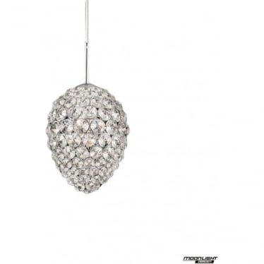 Olivio Single Pendant Clear Crystal Dimmable