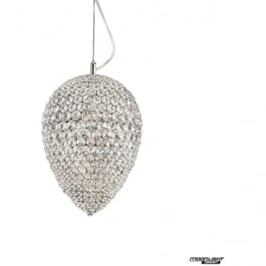 Olivio Small Pendant Clear Crystal Dimmable