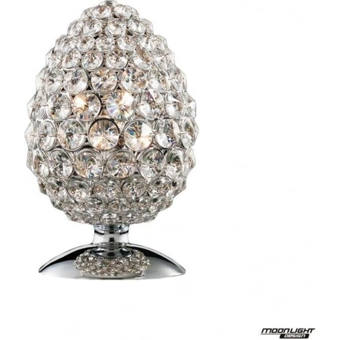 Illuminati Olivio Table Light Clear Crystal Dimmable