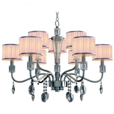 Ophelia 9 Light Pendant Chrome Dimmable