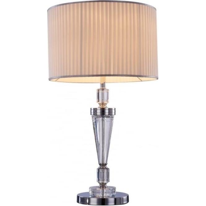 Illuminati Ophelia Single Table Lamp Chrome