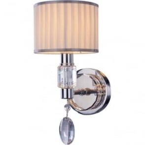 Ophelia Single Wall Light Chrome Dimmable