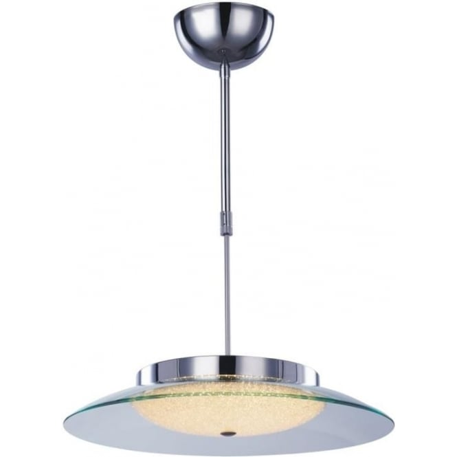 Illuminati Quartz Semi-flush Fitting Chrome Dimmable