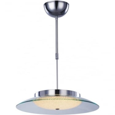 Quartz Semi-flush Fitting Chrome Dimmable