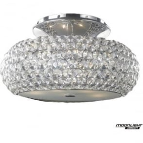 Star Large Flush Fitting Clear Crystal Dimmable