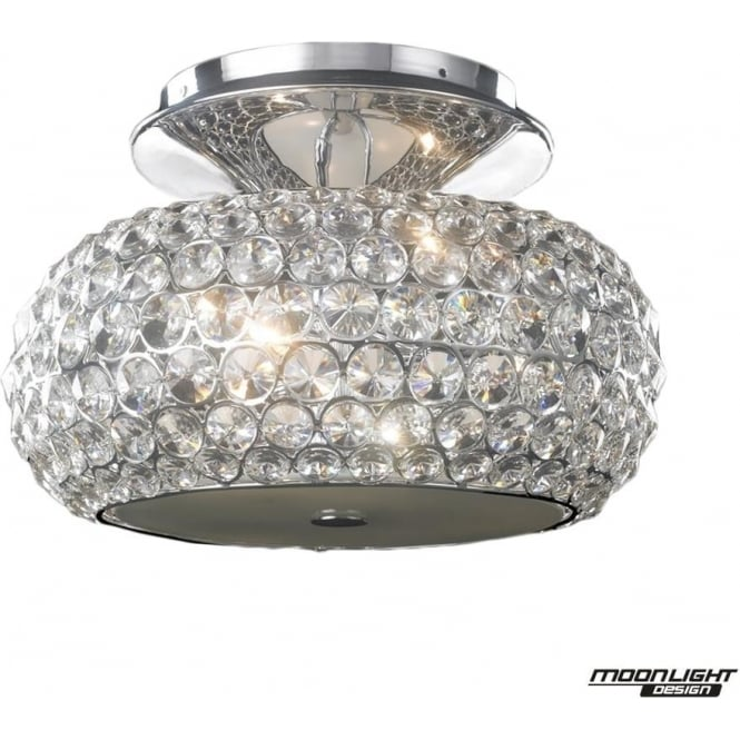 Illuminati Star Small Flush Fitting Clear Crystal Dimmable