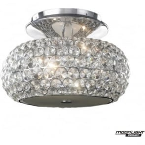 Star Small Flush Fitting Clear Crystal Dimmable