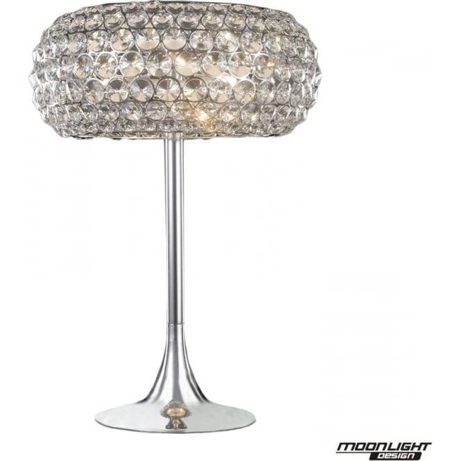Illuminati Star Table Light Clear Crystal Dimmable