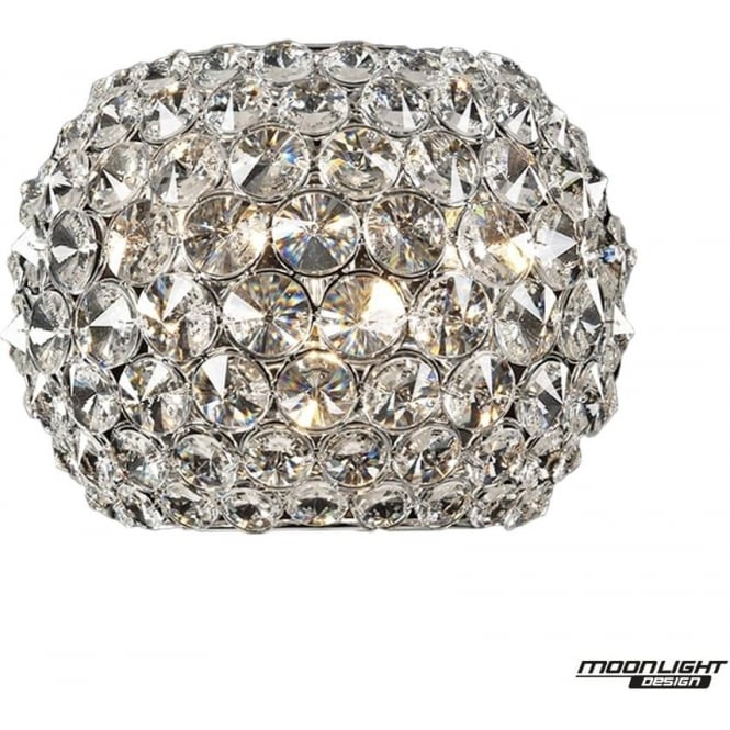 Illuminati Star Wall Light Clear Crystal Dimmable