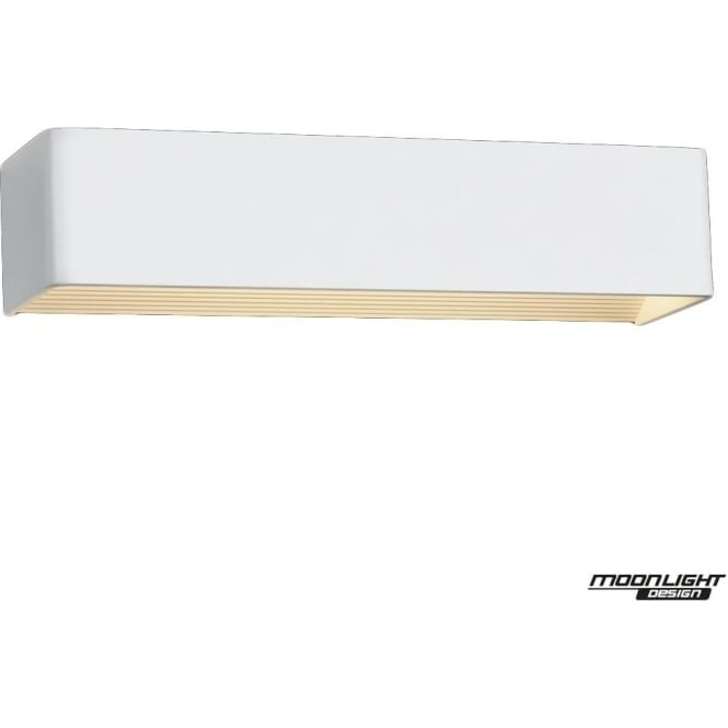 Illuminati Surface Wall Light Long Rectangle White