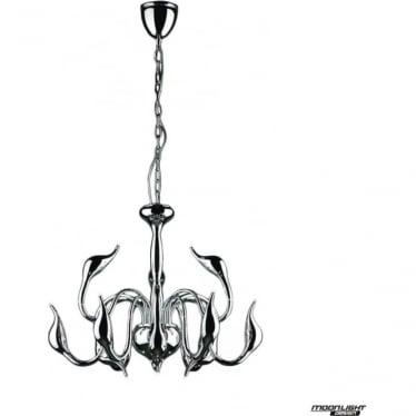 Swan 12 Light Pendant Chrome