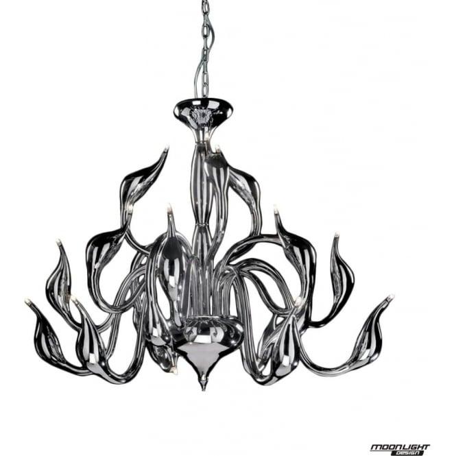 Illuminati Swan 18 Light Pendant Chrome