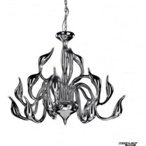Swan 18 Light Pendant Chrome