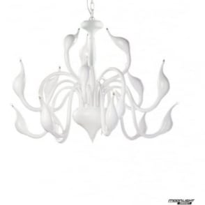 Swan 18 Light Pendant White