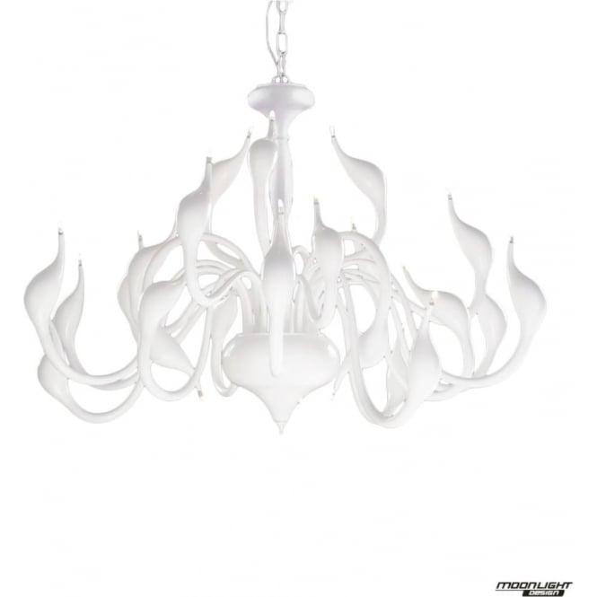 Illuminati Swan 24 Light Pendant White
