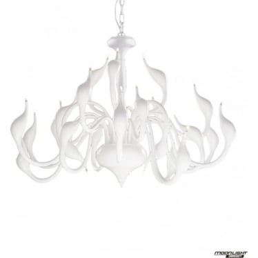 Swan 24 Light Pendant White