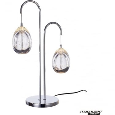 Terrene 2 Light Table Lamp Chrome