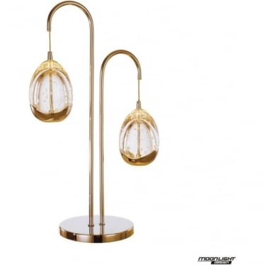 Terrene 2 Light Table Lamp Gold