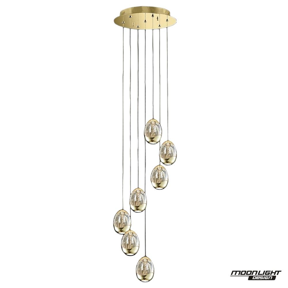 Illuminati illuminati terrene 7 light spiral pendant gold dimmable terrene 7 light spiral pendant gold dimmable aloadofball Gallery