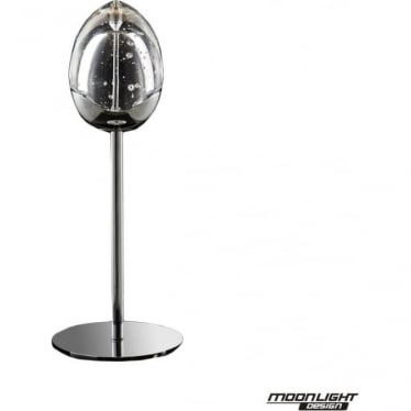Terrene Single Table Lamp Chrome