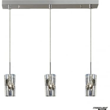 Venus 3 Light Pendant Champagne Dimmable