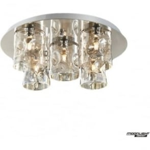 Venus 5 Light flush Fitting Champagne Dimmable